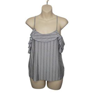 AEO striped soft & sexy cold shoulder top small